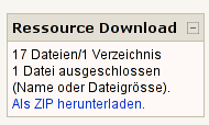 Moodle Resource Download Block